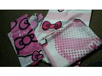 Hello Kitty single bedding x2