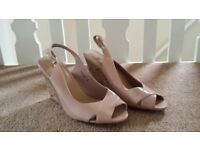 New Look Ladies Wedges, Nude, Size 6, Brand New!