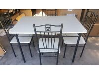 Dining Table and Chairs White Oak Finish