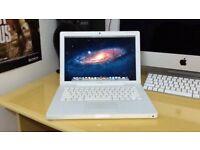 13' Apple MacBook White 2Ghz 2Gb Ram 160GB Logic Pro 9 Garageband Virtual DJ Adobe Microsoft Office