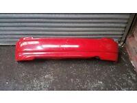 Honda Civic Facelift EK Rear Bumper With EK9 Lip RED