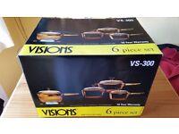 Visions 6 Piece Glass-Ceramic Saucepan Set