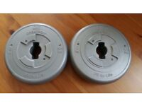 Set of 2 weight plates ORBATRON Fit for life (4.4lbs 2kg)
