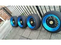 Alloy wheels bbs reps 17 inch multifit wheels 4x108 4x100