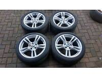 GENUINE BMW 18 INCH M SPORT ALLOY WHEELS 5X120 F30 F32 E90 3 4 SERIES VIVARO TRAFIC 320 F30