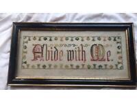 Antique Vintage Tapestry Framed. 1910-1930s. Christian.
