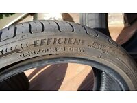 GOODYEAR EFFICIENT GRIP PERFORMANCE TYRES FOR SALE, 225 40 18's. 6MM GRIP, IN GREAT CONDITION.
