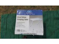 Brand New Small Plastic Table for Caravan, Motorhome, Camping or Home Use