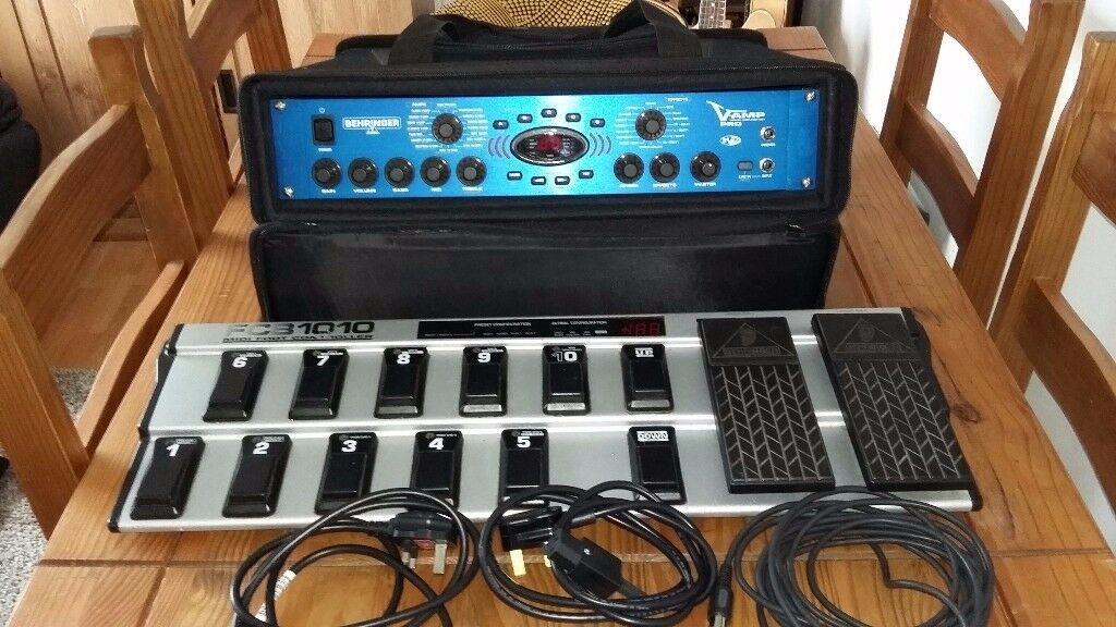 V amp pro plus FCB 1010 midi foot controller in rack bag