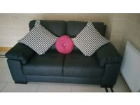 WOW INCREDIBLE BARGAIN DEAL Brand new 2 seater black Italian leather Sofa Go On Call Me Now