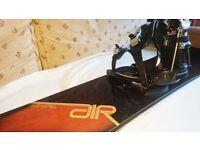 Burton Air Freeride Snowboard 161cm + K2 Cinch Bindings