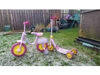 Peppa pig bike and scooter