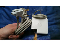 "Apple Macbook MagSafe 1 85W Charger for 15 / 17 "" inch Macs comes with extension cord (needs repair)"
