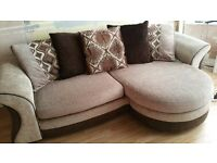 4 seater sofa with footrest