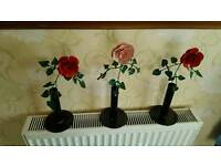 Steel roses hand made