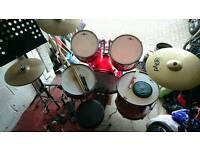 Drum kit - full size starter kit plus extras