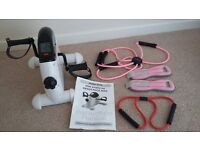 MiraFit mini exercise bike, weights and other items - bundle