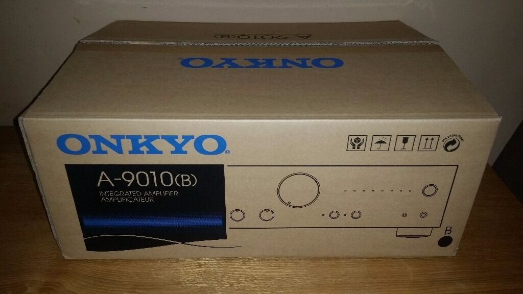 LIKE NEW Onkyo A 9010 Integrated Amplifier Amp with phono stagein Aston, South YorkshireGumtree - WhatHiFi awards 2015 best amp under £300. 2 months old. Fully boxed with remote, manual and in great condition. Only signs of wear on the back where banana plug scraped a little bit of paint near speaker terminal, other than that perfect. Selling...