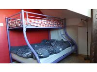 Double bunk bed with mattresses - £80