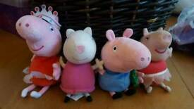 Peppa pig soft toys - 1 with sounds