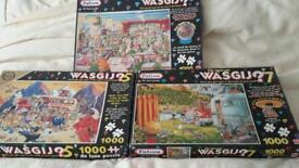 3 × 1000 wasjig jigsaw puzzles