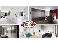 Sliding Door Wardrobes- Bespoke Fitted Bedrooms - Bespoke Fitted Kitchens - Spring Sale 50% OFF
