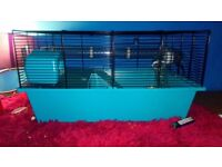 Hampster with cage