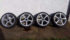 Genuine 4x BMW AC Schnitzer Alloy Wheels with new tyre