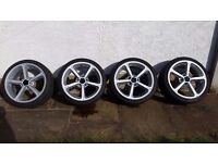 Genuine 4x BMW AC Schnitzer Alloy Wheels with new tyre