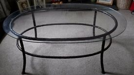 Large Bespoke Wrought Iron Coffee Table