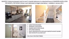 2 X DOUBLE ROOMS TO RENT £550 PCM EACH OR £1000 IF YOU WANT BOTH FOR MORE SPACE. NEWLY DECORATED.