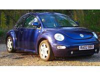Volkswagen Beetle 2.0 3dr 2002 (02 reg) 86,830 miles Manual 1984cc Petrol