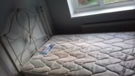 Single bed with cream head and footer design