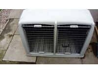 Argo 22 Double dog crate /carrier. H28/W40/D 33. Cost £280.