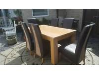 Dining room table and 6 chairs from Harvey's