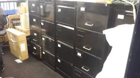 5 Black Filing Cabinets (4 Drawer)