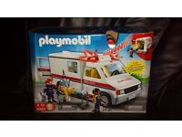 playmobil Ambulance USA new siren model and lights..unused