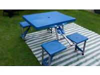 FOLDING PICNIC TABLE CAMPING etc