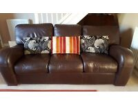 Leather Klaussner 3 seater sofa