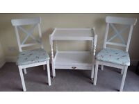 CHAIRS AND TEA TROLLEY