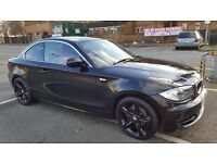 Beautiful BMW 1 series coupe Sport *SATNAV**USB***CORAL RED LEATHER SPORTS SEATS