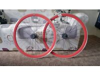 State Bicycle Fixed Gear Components Fixie Wheels - Red 700 C - New