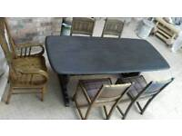 Ercol Oak dining table & chairs