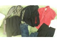 clothes bundle size 8 mixed tops jeans