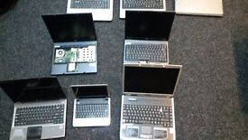 11 x laptops for sell (untested) joblots £25 each on offer