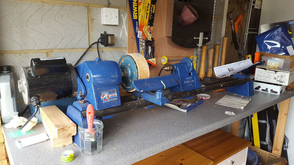 Complete Wood Turning Kit with lathe, chisels, chucks and blanks