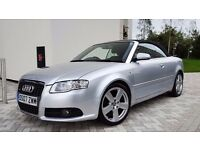 2007 Audi A4 2.0 TDI S Line Limited Edition Convertible 1 Lady Owner from new Full service history
