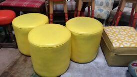 Funky Yellow barrel stools