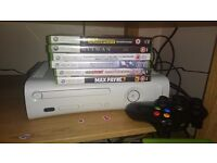 Xbox 360 + 1 pad + 9 games in good condition