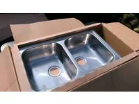 Stainless Steel Sink Double Bowl (without waste kit)